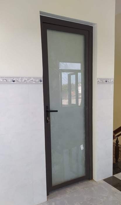 Mẫu cửa nhôm PMA 1 cánh kính mờ