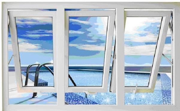 Cửa sổ nhôm VFP mở hất màu trắng bền bỉ theo thời gian