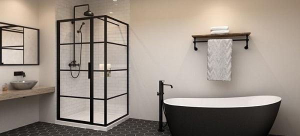 phòng tắm kính ấn tượng