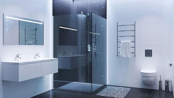 Phòng tắm kính phong cách Nhật