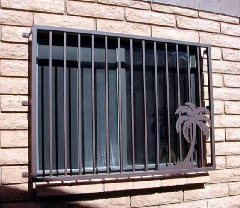 Mẫu khung bảo vệ cửa sổ inox sơn đen đẹp 2020