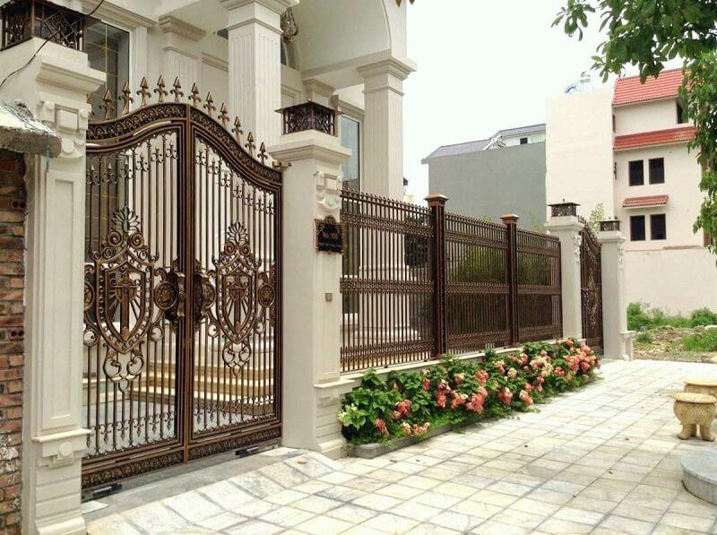Thi công hàng rào biệt thự tại Quảng Ngãi