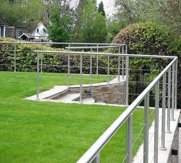 Bộ rào inox cho khuôn viên biệt thự