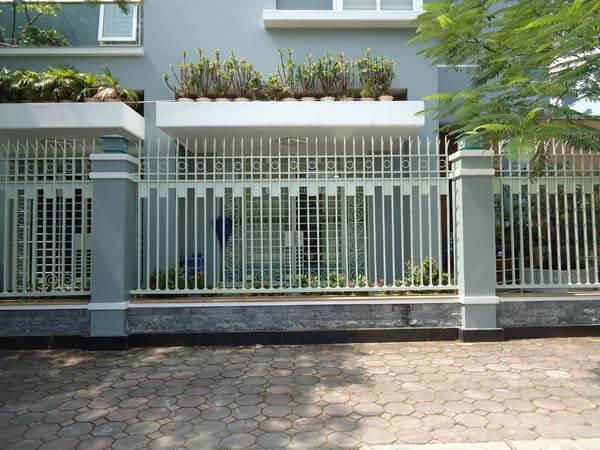 Mẫu hàng rào sắt nhà phố