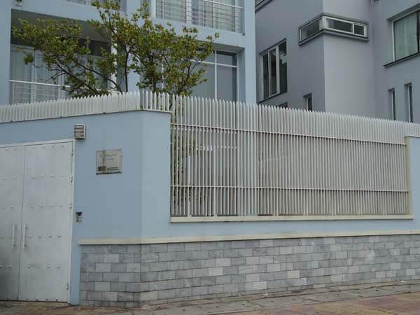 Mẫu tường kết họp hàng rào sắt chắc chắn