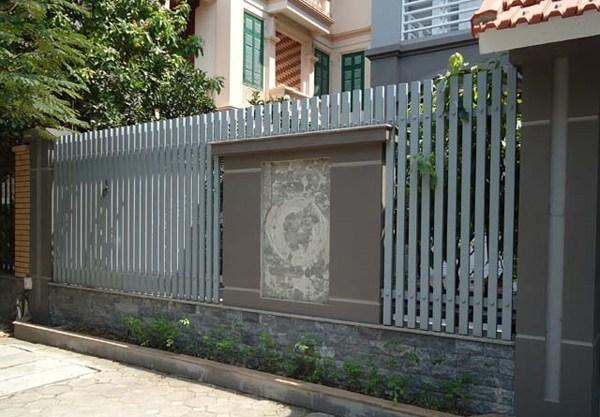 Mẫu hàng rào sắthiện đại