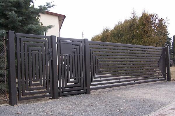 Mẫu hàng rào sắt hộp lớn