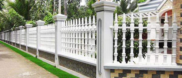 Mẫu hàng rào sắt cho nhà vườn rộng