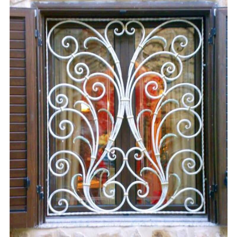 Mẫu khung bảo vệ cửa sổ hoa văn uốn cong sắc sảo