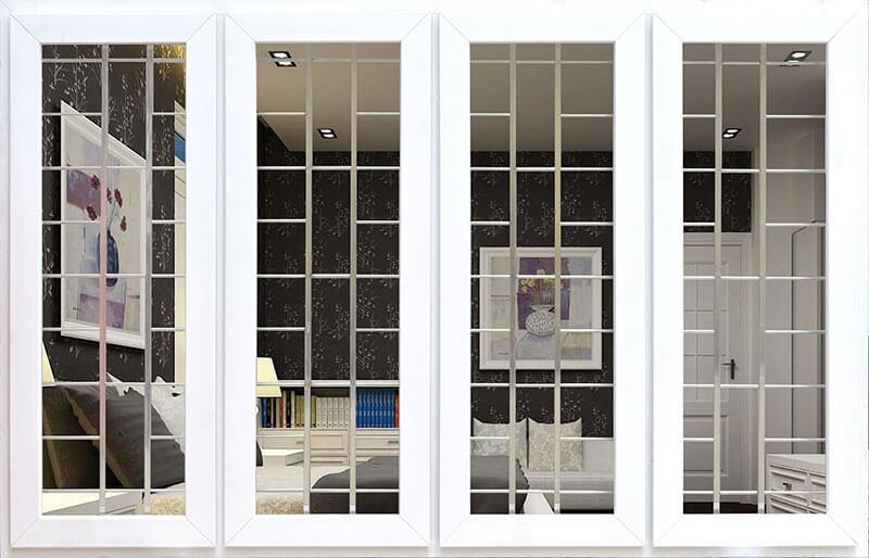 Mẫu khung bảo vệ cửa sổ đơn giản nhìn thấy nội thất