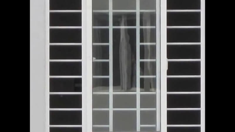 Mẫu khung bảo vệ cửa sổ nhôm đơn giản