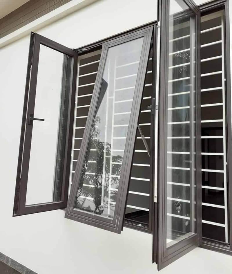 Mẫu khung bảo vệ cửa sổ nhôm kết hợp kính