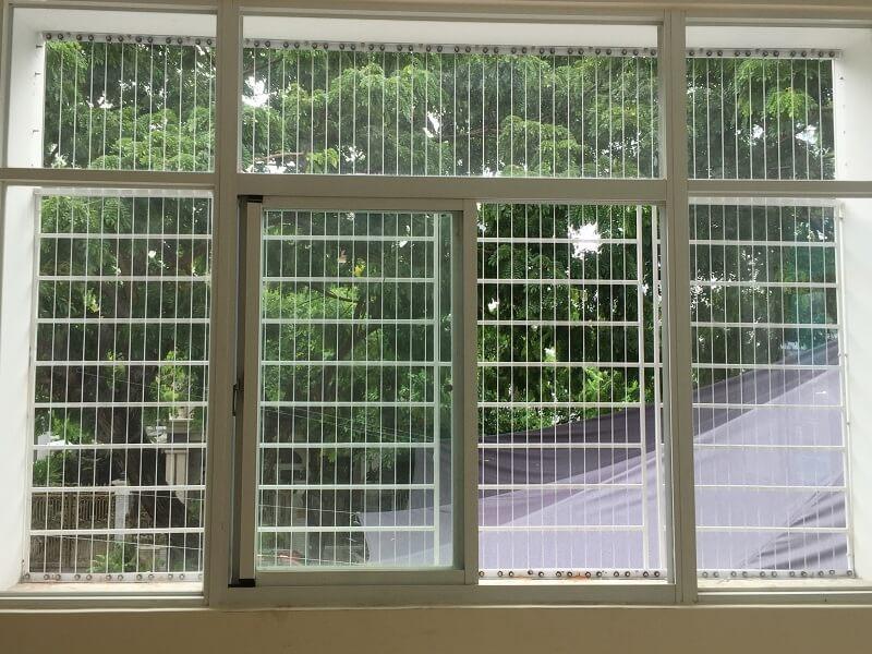 Mẫu khung bảo vệ cửa sổ sắt cho cửa sổ lớn