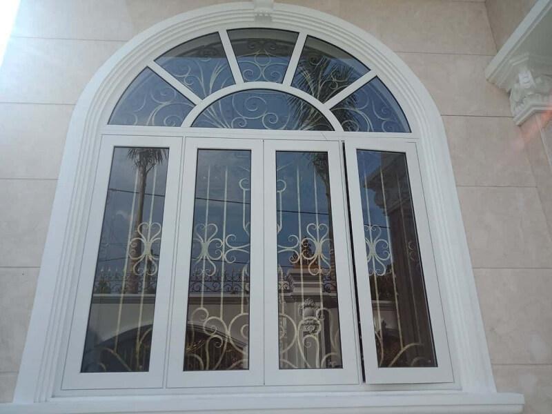 Mẫu khung bảo vệ cửa sổ sắt cho cửa sổ 4 cánh
