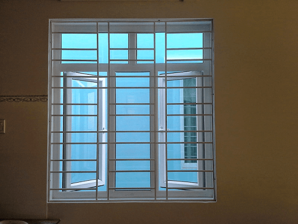 Mẫu khung bảo vệ cửa sổ sắt cho cửa sổ nhôm kính