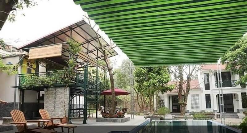 Mẫu mái che di động cho bể bơi bằng vải dù