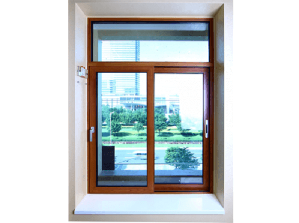 Cửa sổ nhôm kính PMI 2 cánh vân gỗ chất lượng cao
