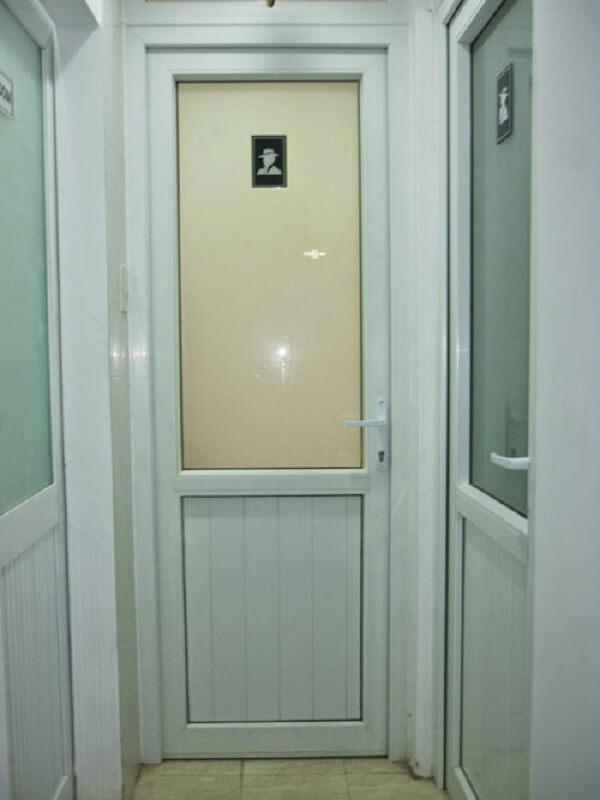 Mẫu cửa nhôm VFP đẹp 1 cánh màu trắng