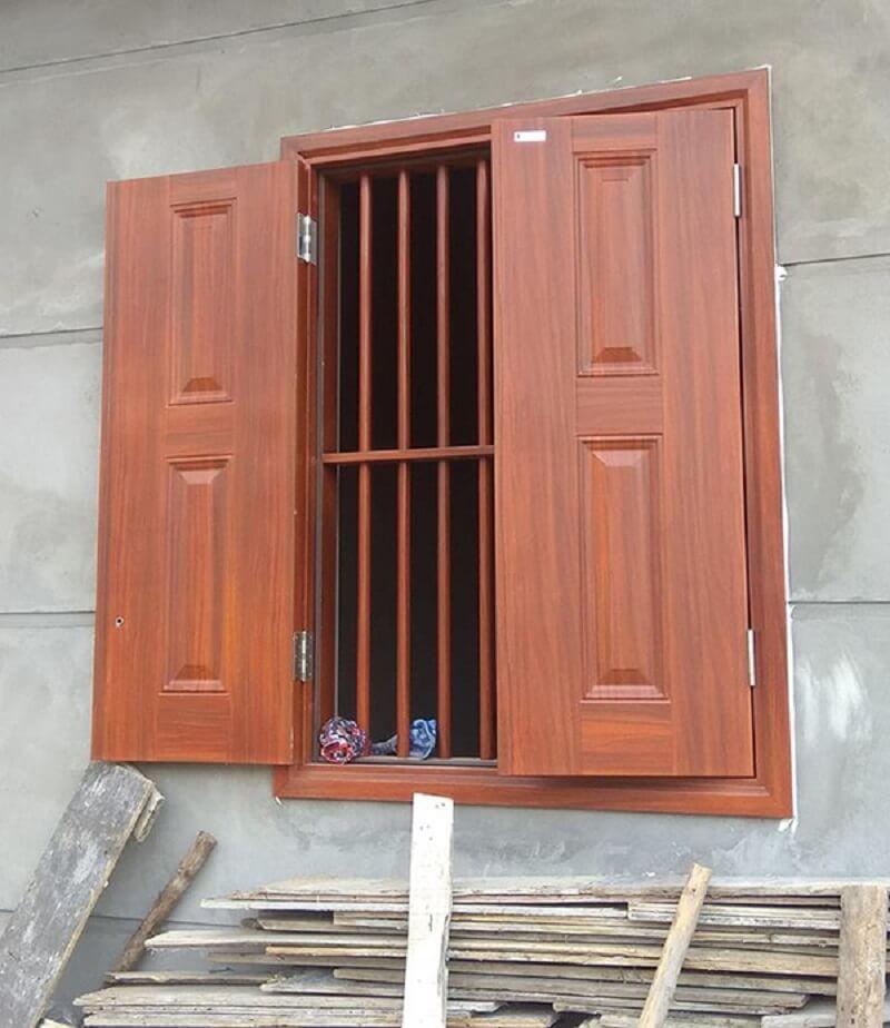 Mẫu khung bảo vệ cửa sổ gỗ đơn giản đẹp 2020