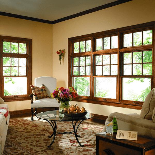 Mẫu khung bảo vệ cửa sổ gỗ sang trọng, thoáng mát