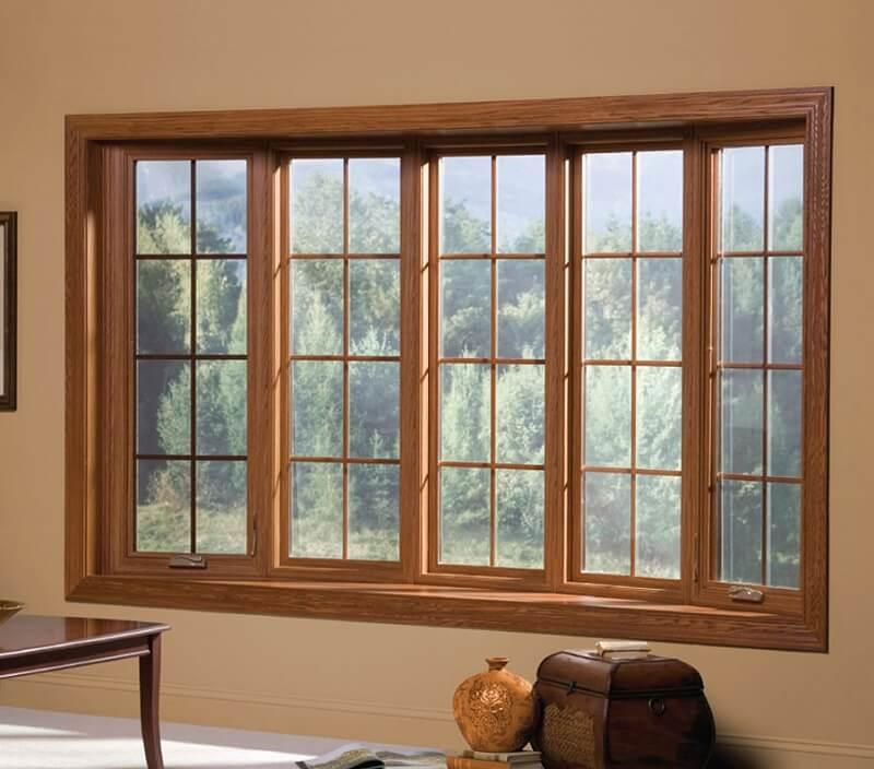 Mẫu khung bảo vệ cửa sổ gỗ sang trọng cho nhà biệt thự