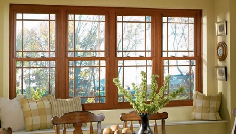 Mẫu khung bảo vệ cửa sổ gỗ đẹp cho nhà hiện đại