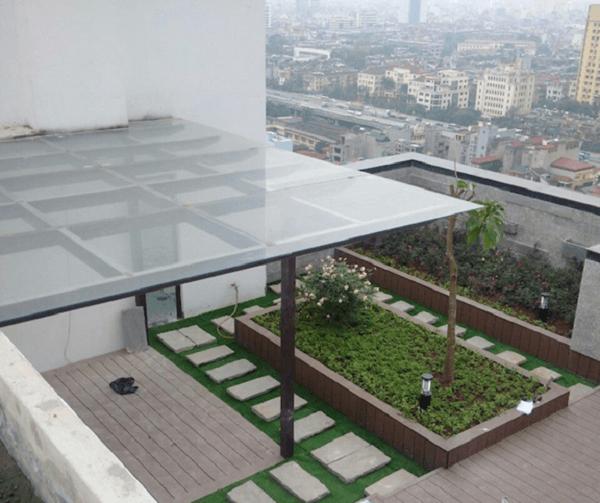 Mẫu mái hiên kính sang trọng cố định cho vườn nhà 2020