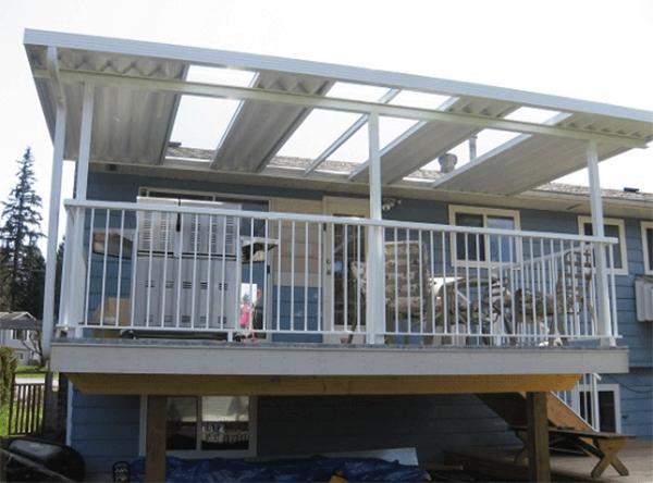 Mái che tôn cố định cho sân thượng