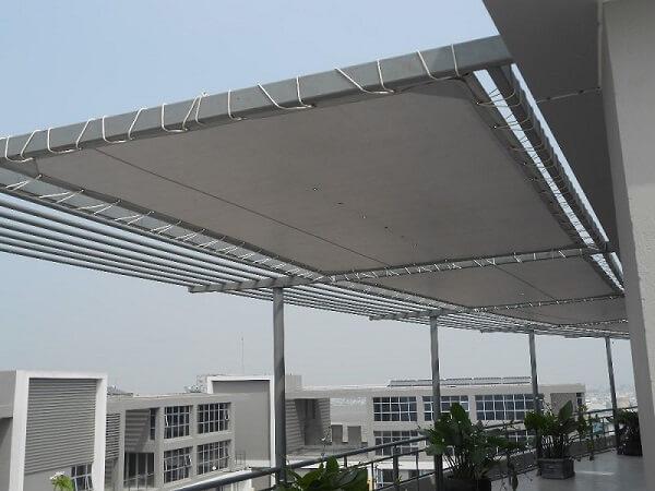 Mẫu mái hiên di động sân thượng cho công trình cao tầng 2020