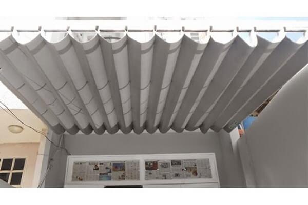 Mẫu mái che di động sân thượng cho nhà ngói mặt phố