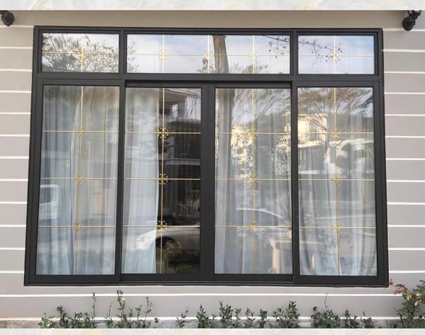 Mẫu cửa sổ nhôm kính 4 cánh sang trọng cho phòng ngủ