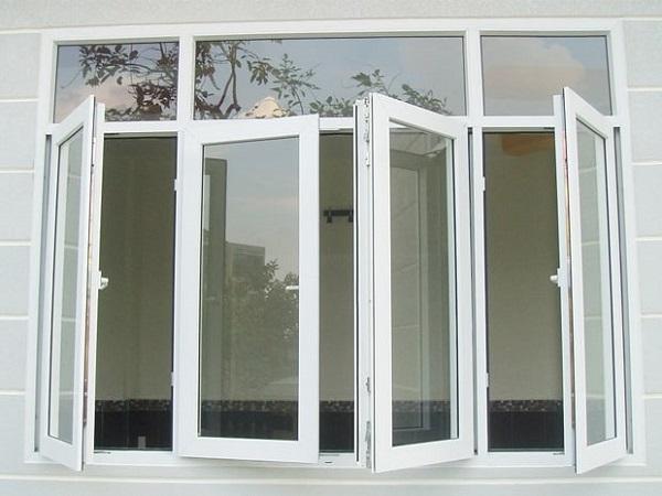 Mẫu cửa sổ nhôm kính 4 cánh đẹp cho phòng ngủ