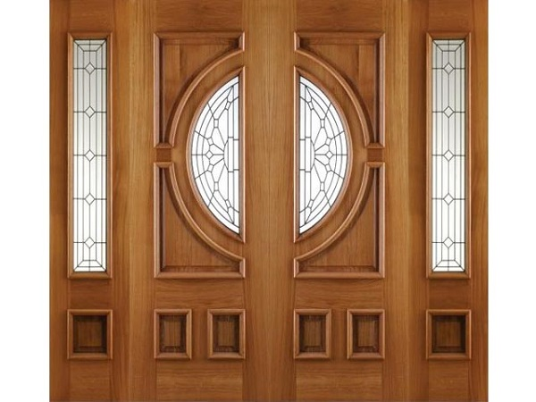 Các họa tiết được tạo nên trên các loại cửa 4 cánh giả gỗ là những họa tiết to cực nổi bật và thu hút người khác.