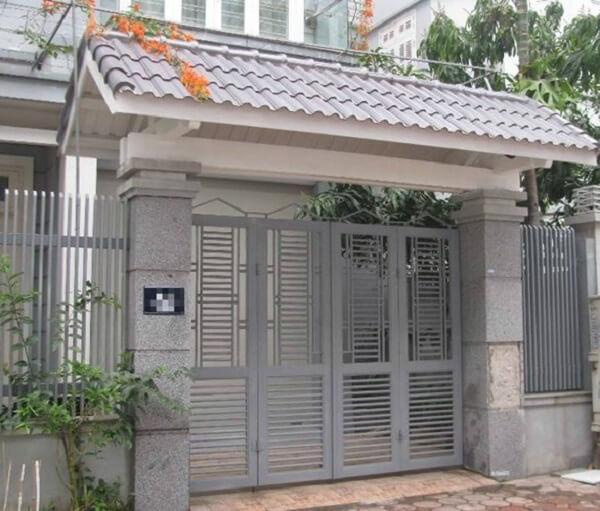 Mẫu mái ngói lớp cổng hiện đại, chất lượng cao