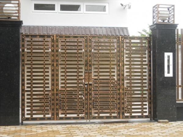 Mẫu cổng biệt thự thiết kế lạ mắt