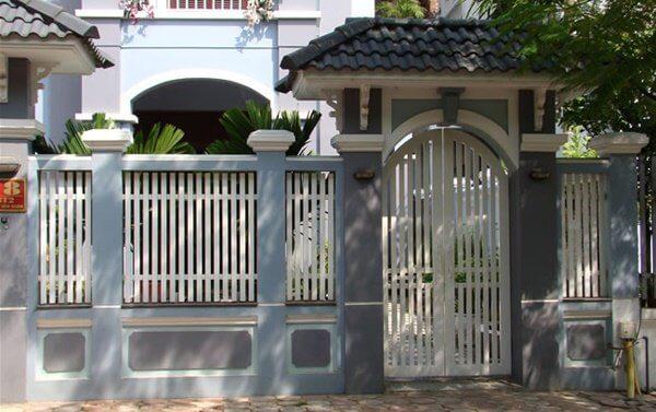 Mẫu cổng hàng rào đơn giản