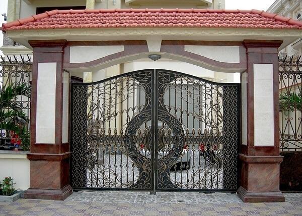 Mẫu cổng hàng rào đơn giản an toàn
