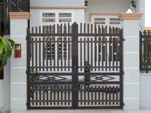 Mẫu cổng nhà cấp 4 đơn giản an toàn