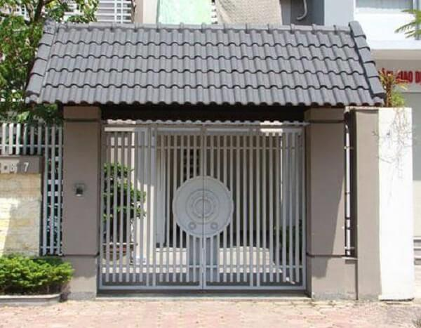 Mẫu cổng sắt cho nhà cấp 4 đơn giản