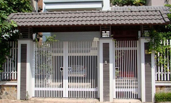 Mẫu cổng nhà phố đơn giản hiện đại