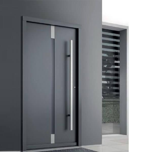 Mẫu cửa nhôm xingfa 1 cánh mà xám đậm hiện đại, mới nhất 2021