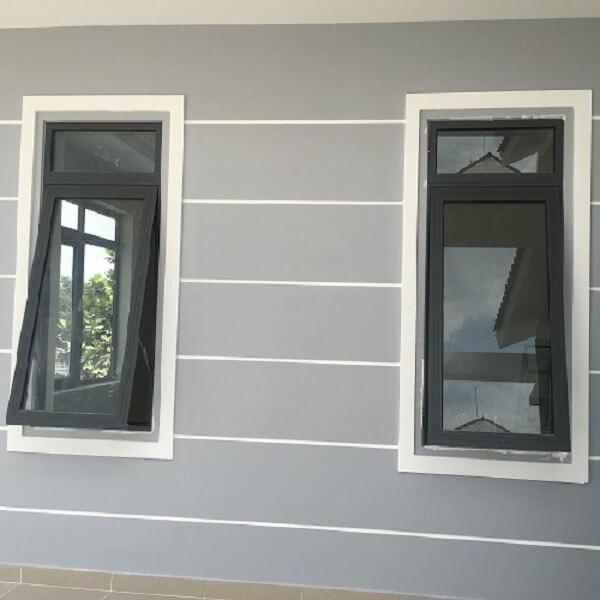 Mẫu cửa sổ 1 cánh mở trượt màu trắng sang trọng