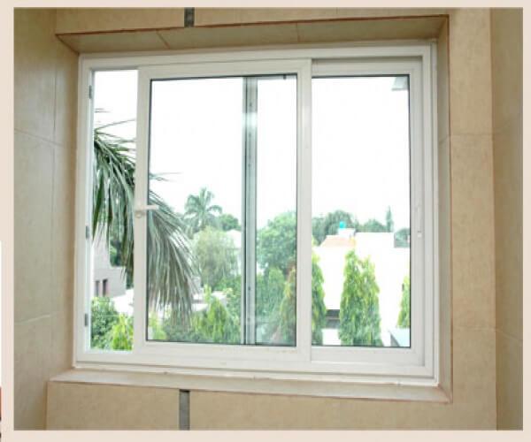 Cửa sổ 2 cánh mở trượt màu trắng sang trọng tinh tế