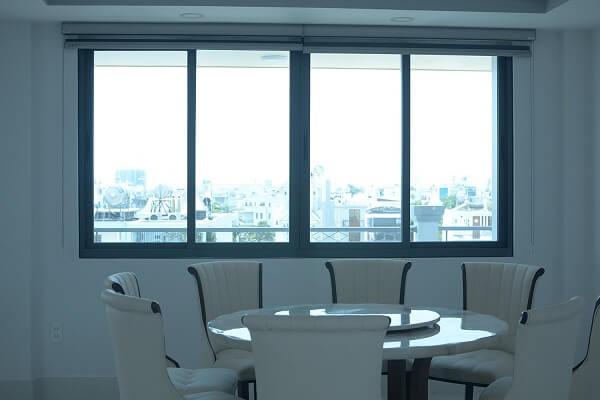 Mẫu cửa sổ nhôm kính 4 cánh thiết kế hiện đại, chắc chắn