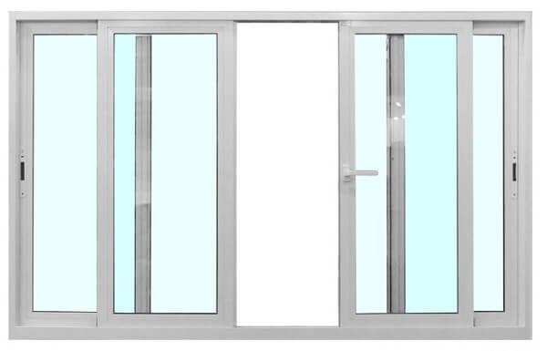 Mẫu cửa sổ nhôm kính 4 cánh cửa trượt đơn giản nhưng mang lại vẻ đẹp tinh tế