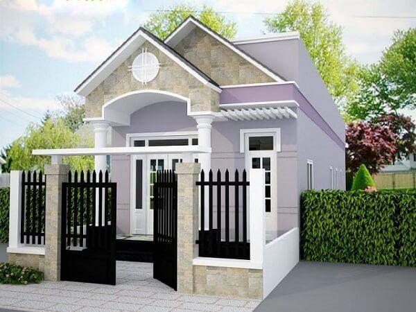 Mẫu hàng rào sắt màu đen phù hợp với những ngôi nhà cấp 4 nhỏ