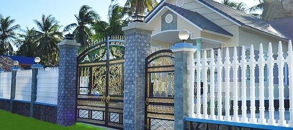 Hàng rào sắt thiết kế cổ điển, đơn giản