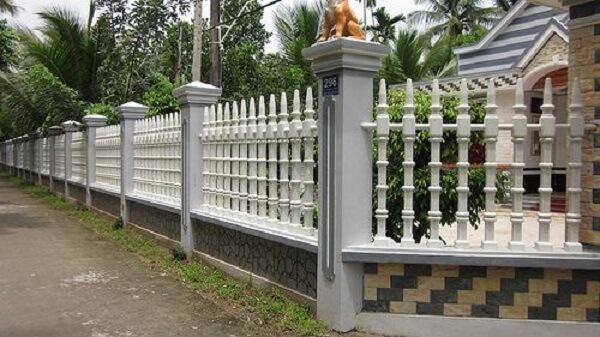 Mẫu hàng rào nông thôn có kích thước lớn