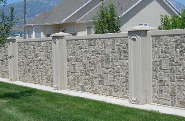 Mẫu tường rào gạch cổ điển sang trọng