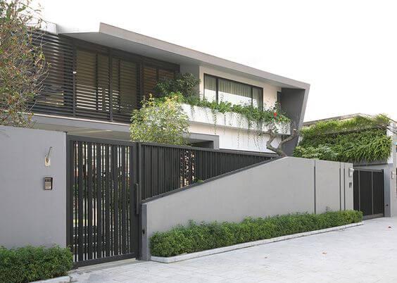 Mẫu tường rào chắc chắn, an toàn cho nhà mặt phố